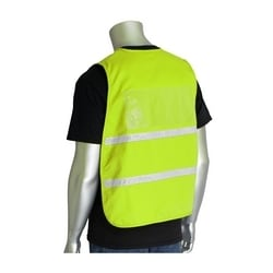 Non-ANSI IC Vest, HVY, Poly/Cotton, Hook & Loop Closure, 1in. White Gloss Tape, 4XL-5XL