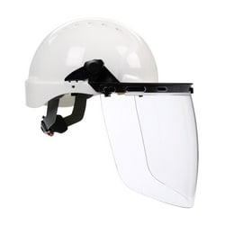 Hard Hat Adapter For Visor Univ Slot Attachment, Pivoting Blades