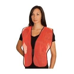 Non-ANSI Mesh Safety Vest, Orange, Hook & Loop Closure, OSFM