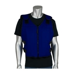 FR Phase Change Cooling Vest, insul. carrying bag zipper closure, XL