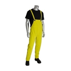 Rainsuit 3pc. .35mm PVC/Polyester, FR Treated, Hood, Self Collar, Yellow, 4XL