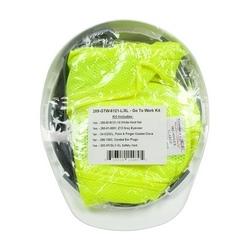Includes Evo6121 Hard Hat, Glasses, L Gloves, XL Class 2 Vest, Ear Plug, XL