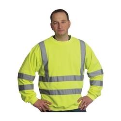 Class 3 Crewneck Sweatshirt, 8oz. Fleece, 2in. Tape, Yellow, Medium