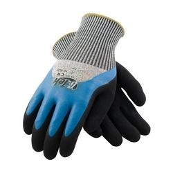 G-Tek CR, S&P PolyKor/Acrylic Blend , Dbl Dipped Latex Palm , EN5, Large