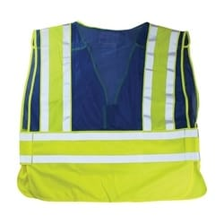 ANSI 207 PSV Vest, No Logo, Breakaway, Zipper Closure, 2x1in. Reflec. Blue, 5XL