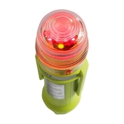 """Compact, Red, Flashing 1-Color, 4 LED, Four """"AA"""" Batteries"""