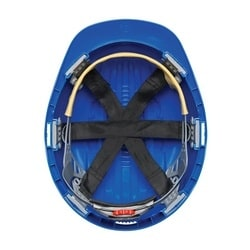 JSP Evolution 6151, Blue, 6-Pt Textile Suspension, Wheel Ratcht, Class E