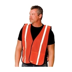Non-ANSI Mesh Safety Vest, 1in. Reflective Tape Hook & Loop Closure, OSFM
