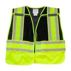 ANSI 207 PSV Vest, No Logo, Breakaway, Zipper Closure, 2x1in. Reflec. Black, XL
