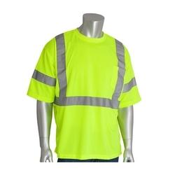 Class 3 Short Sleeve T-shirt, X-Back, Crew Neck, Chest Pocket, Yellow, XL