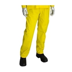 Rainsuit 3pc. .35mm PVC/Polyester, Hood, Self Collar, Yellow, 3XL