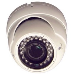 Dome Camera, IR, Vandal-Proof, Day/Night, 1000 TVL, Varifocal 2.8 to 12 MM Lens, 12 Volt DC
