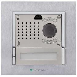 VIP Video Door Entry External Unit, Single-Family, H.264, Includes Ikall Metal Entrance Panel, Box, Frame Art, 1 Module With 1 Button Art, 1 Color Audio/Video Unit Art