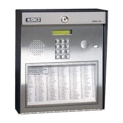"Telephone Entry System, Full Duplex, Surface Mount, 16 Volt AC, 20 VA, 16-Digit Dialing, EEPROM Memory, 11.25"" Width x 4.75"" Depth x 13"" Height"
