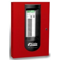 Conventional Fire Alarm System, 120 Volt AC, 24 Volt DC, Red, 10-Zone Panel