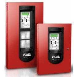 Intelligent Fire Alarm System, 1-Loop System, 64-Point Capacity, Red Door, Surface Mount, Includes 2-Line Dialer, Two NAC