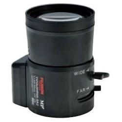"Security Camera Aspherical Lens, Long Cable, 23 Milliampere at 4 Volt DC, 1/3"" or 1/4"" Format, 5 to 50 MM Focal Length, 7.50 MM Back Focal Length, 1.3 MP, CS Mount"