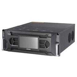 Enregistreur vidéo réseau, 4U Chassis, 256 canal, H.264, 8640/400 Mbit/s/sortie bande passante, de 100 à 240 volts C.A. à 50 à 60 Hertz, Ampère 6,3, 600 Watt, 6 to