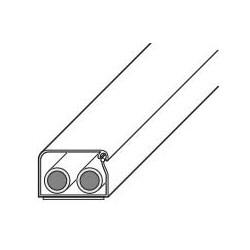 """Câblage gaine, Standard, autocollant, 60"""" longueur x 5/8"""" largeur x 3/8"""" hauteur, blanc"""