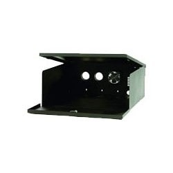 """Indoor Lockbox, Desk/Floor Mount, 20"""" Width x 24"""" Depth x 8"""" Height, Black, With Fan"""