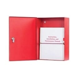 """Adaptable Locking Enclosure, 11"""" Width x 4"""" Depth x 15"""" Height, Red"""