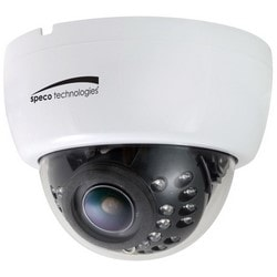 Dome Camera, IR, NTSC, Day/Night, Indoor, 1020 x 508 Resolution, Auto Iris/Varifocal 2.8 to 12 MM Lens, 12 Volt DC 250 Milliampere, Black, With Built-In IR LED