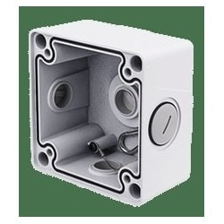 PoE Junction Box, Bullet, Outdoor, 122 MM Length x 122 MM Width x 64 MM Height, Aluminum, White Powder Coated
