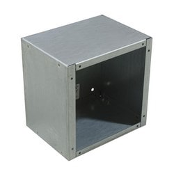 Junction Box, Screw Cover, Nema 1, No Knockouts, 12in H, 6in D, 12in W, Steel, No Paint