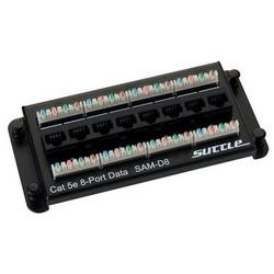 MediaMAX Data Termination Modules, 3 Inch Height x 6.5 Inch Width x 1 Inch Depth, (8) RJ-45 Jacks Input, (8) 4-Pair 110 IDC Output