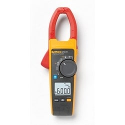 True RMS AC/DC Clamp Meter, 34 MM Jaw Opening, 1000 Volt, 600 Ampere, 6 Kilo Ohm, 1 to 1000 Microfarad, Includes Soft Carrying Case, Test Lead