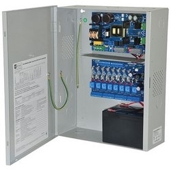 Access Power Controller w/ Power Supply/Charger, 8 Fused Relay Outputs, 12VDC @ 10A, Aux Output, FAI, 115VAC, BC400 Enclosure
