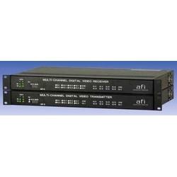 Digital Video Transmitter, Multimode, 1-Fiber, 16-Channel Video, 2-Channel Data, 7 Megahertz, 75 Ohm Impedance, 100 to 240 Volt AC, 50 to 60 Hertz, 55 Watt