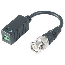 """CCTV Balun, Screw Terminal, 10"""" Tail, 1.33"""" Width x 0.03"""" Depth x 0.03"""" Height, Plastic, With Pigtail"""