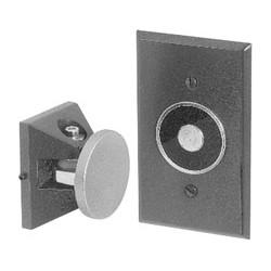Electromagnetic Door Holder, Flush Wall Mount, 24 Volt AC/DC, 120 Volt AC, 0.015 Ampere, 60 Hertz, Die-Cast Metal, Powder Epoxy Aluminum