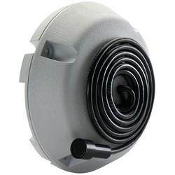 "Microphone, Omni-Directional, 12 Volt DC, 10 Milliampere, 50 Hertz to 15 Kilohertz, -45 dB Volt per Pascal Sensitivity, 4"" Diameter x 1.5"" Height, 6' Cable, ABS Plastic Housing"