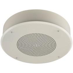 "Speakerphone, 2-Way, Electret Condenser, Ceiling/Surface Mount, 12 Volt DC, 200 Milliampere, 40 Hertz to 15 Kilohertz, 8 Ohm, 4"" Speaker, 12-7/8"" Grill"