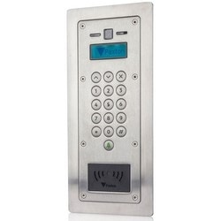 Door Entry Panel, 2-Way Audio, Cat 5, 1 Mbps Ethernet Bandwidth, Flush Mount, 150 MM Width x 45 MM Depth x 336 MM Height, Stainless Steel