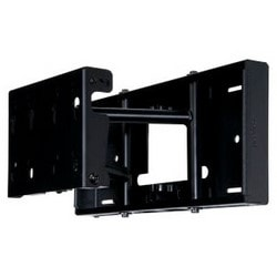 """Pivot Wall Mount, Universal, Pull-Out, Theft Resistant Hardware, 150 Lb Load, 24.38"""" x 2.73 to 11.18"""" x 16.78"""", 0/5/10 Degree Tilt, Powder Coated, Black, For 32 to 80"""" Display"""