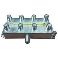 "CATV Coax Splitter, 8-Way, 8-Port Vertical, 1 Gigahertz, 4.6"" Length x 2.25"" Width x 1.25"" Height"