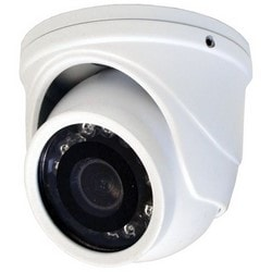 IR Camera, Mini Turret Color, HD-TVI, Day/Night, 1920 x 1080 Resolution, Fixed 2.9 MM Lens, 12 Volt DC, With LED