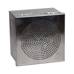 "Tane Alarm Box, 12 Volt DC, 280 Milliampere, 20 Watt, 115 dBm, 5.63"" Width x 4"" Depth x 5.67"" Height, Stainless Steel, With Dual Tamper, Dual Tone Siren"