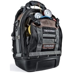 "Tool Bag, 56 Interior and Exterior Tool Pocket, 2-Bay Storage, 4 Storage Platform, 4 Large and 5 Small D-Ring, 14.25"" Length x 9.875"" Width x 21.5"" Height, Polypropylene Base"
