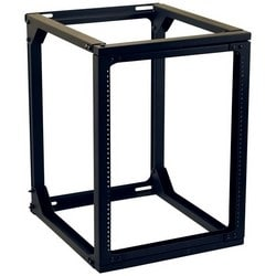 "Swing Gate Wall Rack, 13U, 100 Lb Capacity, 21.1"" Width x 27.5"" Depth x 23.7"" Height, Steel/Aluminum, Black Powder Coated"