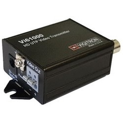 "Video Transmitter and Data/Power Splitter, HD, UTP Cable, 12 Volt DC, 0.97"" Length x 1.76"" Width x 2.15"" Height, Aluminum"