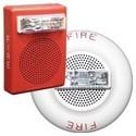 "Speaker Strobe, Wall Mount, 25/70 Volt RMS, 87 dB, 5"" Width x 2.58"" Depth x 6.74"" Height, Plastic, White"