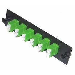 12Port LC/APC Duplex Single-mode Adapter, Snap-In, Ceramic Sleeve, Green Adapters