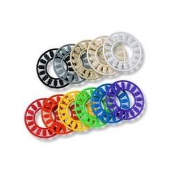Icône roue 16 icônes avec 5E catégorie 4 blancs 2 & catégorie 6, V1-V4 & D1-D4 Orange 10/Pk