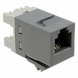 1-Port Modular Jack 110 8W8P UTP T568A/B Category 5E SL Series Gray