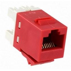 1-Port Modular Jack 110 8W8P UTP T568A/B Category 5E SL Series Red