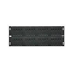 96-port panneau 110W8P 8-Mod T568A/B catégorie 5E 4U déchargé Black Jacks Packged séparément